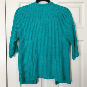 Chico's Sweaters - CHICO'S Size 0 Open Cardigan Turquoise Ribbed